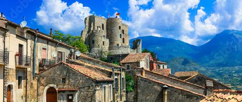 Plexiglas Freesurf Medieval villages of Italy - scenic Morano Calabro . view with castle. Calabria