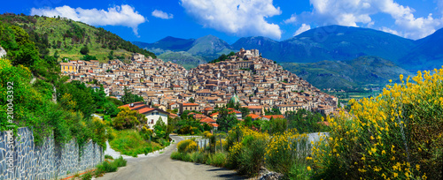 Plexiglas Freesurf Morano Calabro - one of the most beautiful villages of Italy. Calabria