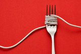 Fork wrapped with cable - 210054528