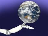 ロボット アンドロイド 手 地球 Robot Android Hand Earth - 210075797