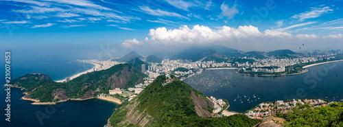 Panorama Rio de Janeiro seen from high vantage point - 210076153
