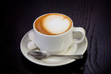 Delicious cup of latte