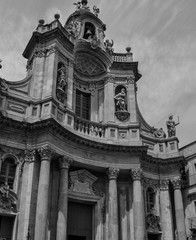 Beautiful view of palace in Catania, architecture, Sicily, Italy.