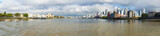 Panoramic view of the Thames River from Greewich in  London, England
