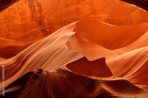 Fotobehang Rood traf. Antelope Canyon, Arizona