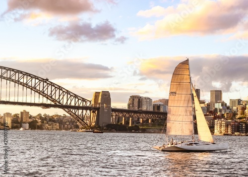 Sailing on Sydney Harbour at Sunset