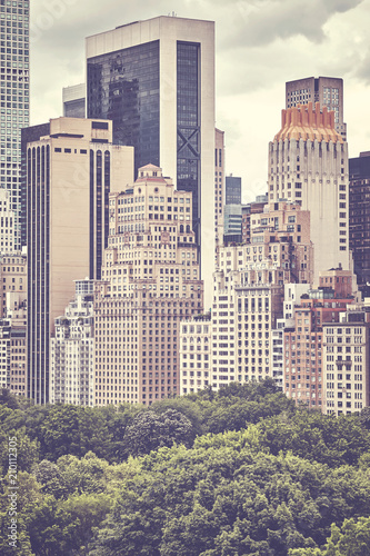 Manhattan Upper East Side, color toned picture, New York City, USA. - 210112305