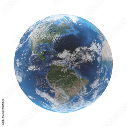 world globe earth 3d rendering. elements of this image furnished by NASA - 210127529