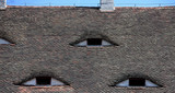 Famous eyes. Windows in the roof made in the form of eyes. - 210162307