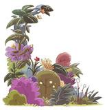marco de plantas y flores