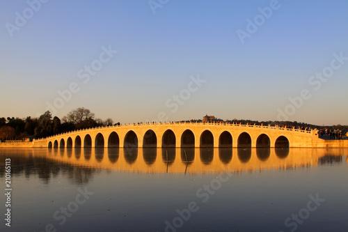 Fototapeta Seventeen Holes Bridge scene
