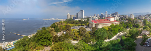 SOCHI, RUSSIA - MAY 4, 2018: Panoramic view of city. - 210167511