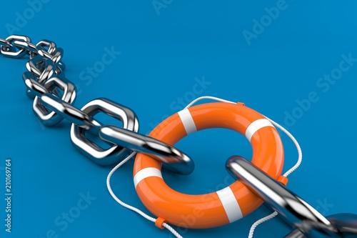 Łańcuch z boją ratunkową