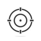 Aim icon vector isolated - 210172346