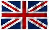 Waving flag of the Great Britain. British flag. United Kingdom of Great Britain and Northern Ireland. State symbol of the UK. 3D illustration - 210182992