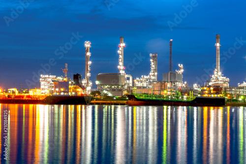 Fotobehang Rotterdam Oil refinery at Bangkok Thailand