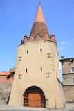 Historic town gate in Strzelin, Silesia, Dolnoslaskie, Poland