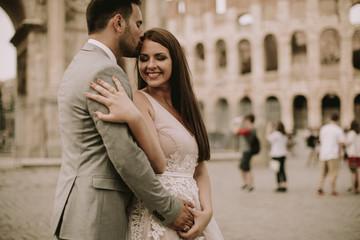 Wedding couple in Rome, Italy