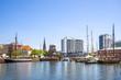 Leinwanddruck Bild - Bremerhaven, Hafen und Stadt