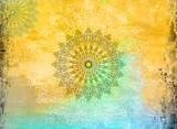 Geometric Mandala Grunge Background - 210206551