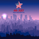 Patriotic independence day background - 210217944