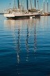 Wooden Boats Reflections Vertical