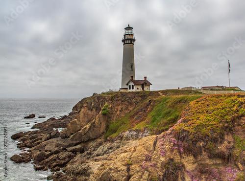 Fotobehang Vuurtoren Lighthouse on point