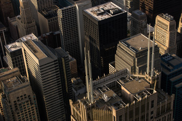 Looking Down On The City Of Chicago At Sunset From Above  © Brendt-Petersen