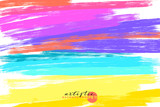 artistic backdrop, vector with brush strokes, brush paint look background with colorful hand painted stains - 210243782