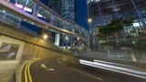 traffic in central district of Hong Kong city at night - 210250792