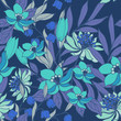 Abstract elegance pattern with floral background. - 210260733