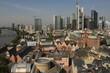 Mainhattan; Blick vom Dom auf Altstadt und Skyline von Frankfurt