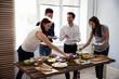 Friends Eating Healthy Food - 210274722