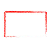 red rectangle crayon frame - 210293997