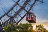 Ferris wheel in the Prater, amusement park, Prater, Vienna, Austria, Europe - 210296103
