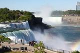 NIAGARA FALLS, New York - JUNE 12,2018: People Visitors on Niagara Falls is the waterfalls  New York ,USA