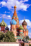 St. Basil's Cathedral on Red Square in the Kremlin in Moscow wit - 210300358