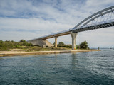 Bridge between two islands Ugljan and Pasman  in Croatia called Zdrelac - 210305988