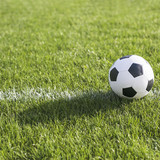 Football in grass on line - 210307998