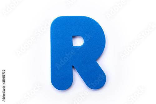Foto Murales Blue Letter R