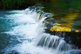Waterfall at Rastoke in Croatia in a sunny summer evening