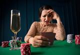 Woman playing in casino - 210335165