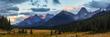 Mountain Meadow in the Canadian Rocky mountains in Kananaskis, Alberta