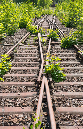 Aluminium Spoorlijn stillgelegte Bahnstrecke