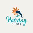 Dolphin logo- Summer holidays.