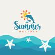 Summertime vector illustration.