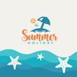 Summer beach vector design.