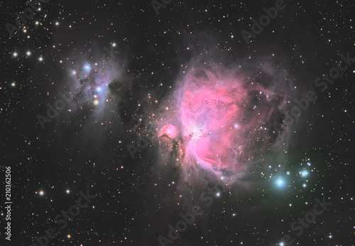 Astrofotografie orionnebel mit Running Man - 210362506