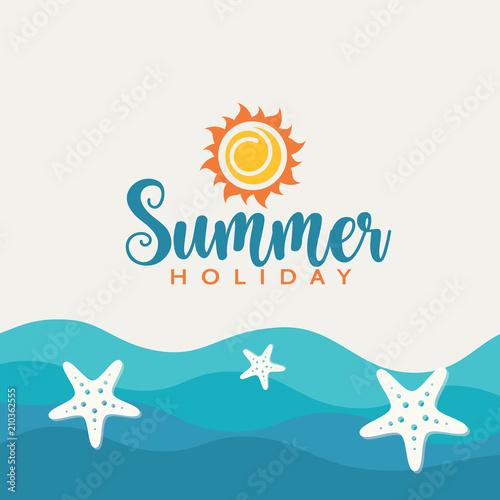Sea background and summer creative design.