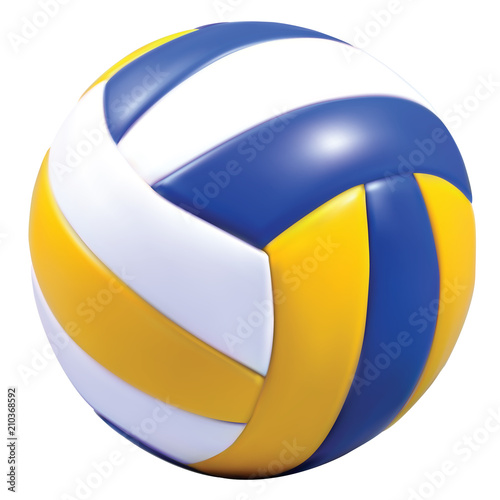 Fototapeta Realistic vector voleyball